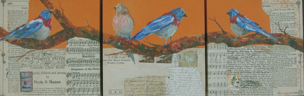 Bluebird Triptych