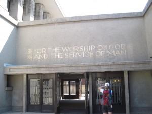 Unity Temple Entrance